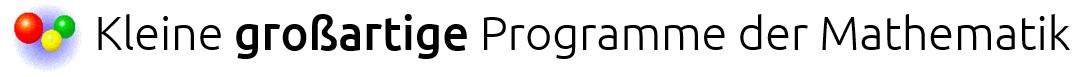 Kleine Programme der Mathematik